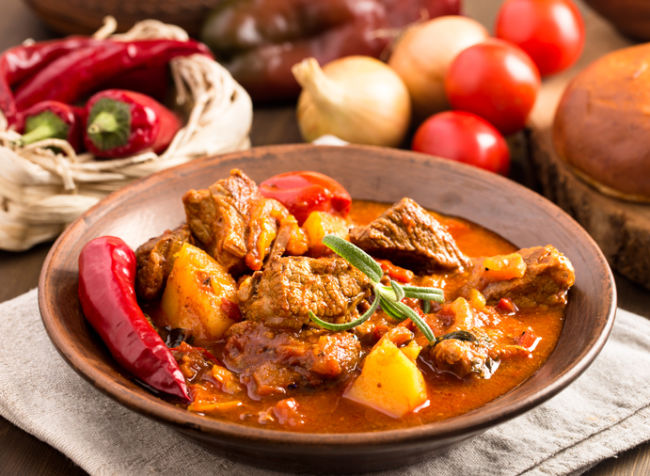 Hungarian beef stew goulash